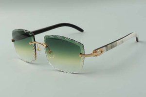 2021 designers sunglasses 3524023 cuts lens natural hybrid buffalo horn temples glasses, size: 58-18-140mm