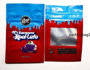 Vuoto Gasco Bag odore Proof Fourlato Gelato33 e Gaslato Bambino borse richiudibili Yukmouth Kooi-Lato Mylar commestibile