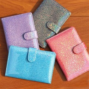 Card Holders PU Leather Passport Cover Unisex Travel Holder Fashion Paillette Customize ID Case