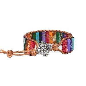 Weini Color Imperial Stone Bractele Рука сплетенные коровьей каменные украшения