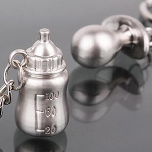 Wholesale-Baby's Bottle And Pacifier Keychain Wedding Favors And Gifts Wedding Souvenirs Wedding Supplies Baby Shower Favors Hot