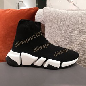 Mens Womens Knit Sock Shoes Top Quality Original Casual High Cut Socks Race Fashion Outdoor Platform Dress Shoe Sneakers With Box Size 35-45