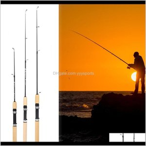 Spinning 75Cm Length Shrimp Ice Pole Portable Light Weight Tackle Lure Rods Fishing Tools Pesca Im6In Qvxsj