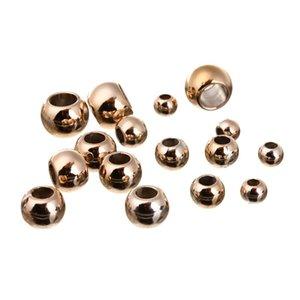 100pcs / lot 4 6 8 10 12mm Big Hole Perline distanziatore distanziatore perline sciolta per gioielli fai da te che fa accessori accessori Charms 1185 Q2