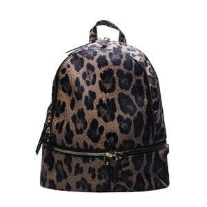 Faux Leather Raleigh Backpack Leopard Tassel Shoulder Backpacks 3Colors Girl School Bag DOMIL1916