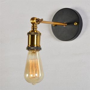 Vintage LED Wall Lights 110V 220V E27 Metal Wall Lamps Home Decor Simple Single Swing Wall Lamp Retro Rustic Light Fixtures Lighting In Stock