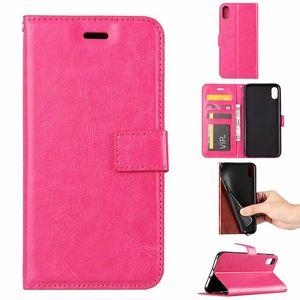 Pour iPhone 12 11 PRO XS MAX XR X 7 8 Plus cas de téléphone PU porte portefeuille avec cadre photo Cadre en cuir Couvre-cas pour S10 Plus Note 9 S9 Plus Note2020
