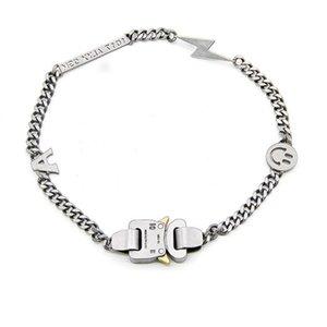 19SS Collier Alyx Bracelet en métal Chaîne en métal Femmes Hip Hop Hop Accessoires de Street Alyx Sourire Collier