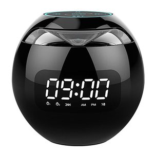 Portable Speakers Wireless Speaker G90 Clock Colorful Bluetooth Mini Home Ball Card Small Steel Cannon