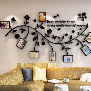 Wall Stickers 3D Tree Decal Picture Po Frame Acrylic DIY Art Poster Decoration Sticker
