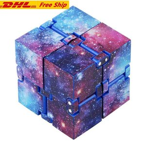 DHL 3-7 days Infinity Fidget Cube for Child and Adults Family, Stress and Anxiety Relief Cool Hand Mini Kill Time Toys Infinite Cube