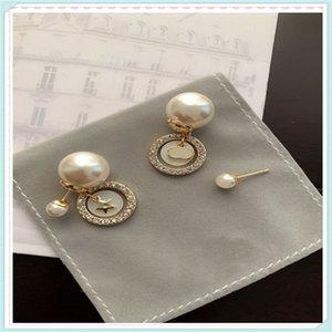 2021 Fashion Pearls Womens Earings Jewelry Luxurys Designers Earrings Studs Brands Pearl 925 Gold Ear Stud D Designer Earring Dq 21042101DQ