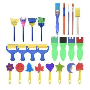 Children's brush 25 sponge brushes   set, interesting and creative painting toys