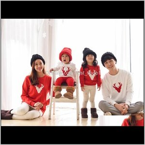 Clothing Matching Outfits Look Alikes Mom Dad Baby Long Sleeve Cotton T Shirts Christmas Deer Family 7Txkl 07Jdw