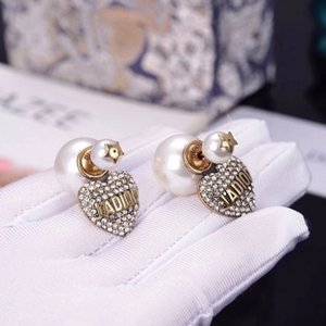 Design jewelry earrings   autumn and winter love letter Pearl Earrings women's fashion creative personality KFG7