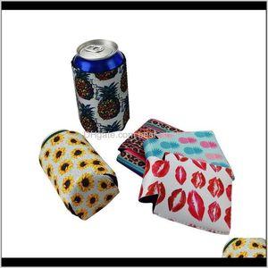 Other Drinkware Neoprene Beverage Cooler Collapsible Slim Beer Insulators Premium Cola Soda Bottle Koozies Cactus Leopard Can Sleeve O Hx4Q9