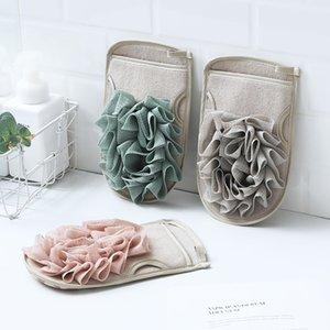 Portable Bath Gloves Double Sides Body Scrubber Shower Exfoliating Sponge Cleaning Brush Massage Mesh Ball Bathing Tool