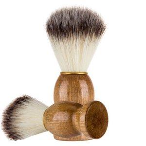 Bath supplies Barber Hair Shaving Razor Brushes Natural Wood Handle Beard Brush For Men Gift OWB7312