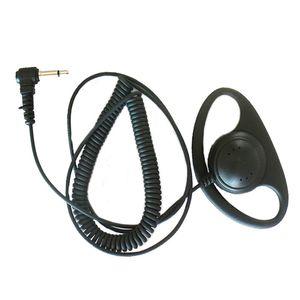 3.5mm D Forma Forma Ear-Hook Receber Ouvir apenas fone de ouvido fone de ouvido fone de ouvido microfone para icom kenwood nx200 tk-2140 tk-2180 kmc-41 kmc-25 rádio