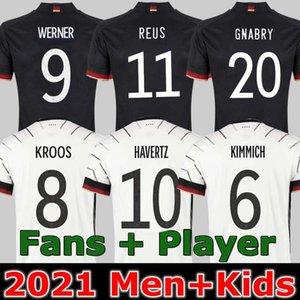 Almanya Futbol Forması 2021 Fanlar Oyuncu Sürümü Hummels Kroos Gnabry Werner Draxler Reus Muller Gotze Avrupa Kupası Futbol Gömlek Unifor