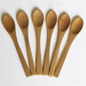Natural Bamboo spoons tableware ice cream jam coffee spoon ECO Friendly long handle spoon Dinnerware 4style T2I51847