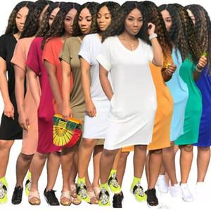summer womens one piece dress casual loose short sleeve skirt designer maxi dresses high quality elegant luxury clubwear women clothes 8704
