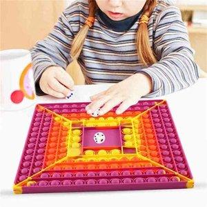 Big Size 30cm finger bubble toys Fidget Push Desktop Toy Popper Puzzle Tabletop Board Bubbles Sensory desktop educational toys chessboard decompression G751KYM