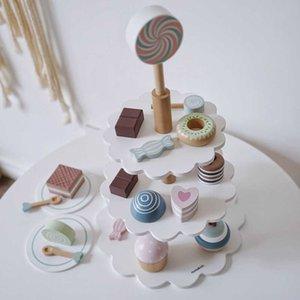 Girls gift wooden cake toy afternoon tea children kitchen ice cream 3-4-5-6 years old
