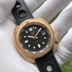 Llegada Steeldive SD1970S Caso de bronce Cerámica Bisel azul Luminoso NH35 Reloj automático de buceo para hombres Relojes de pulsera
