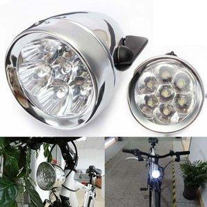 Vintage retro bicicleta bicicleta dianteira lâmpada de luz 7 LED Fixie farol luzes