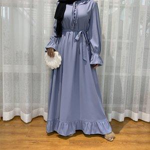 EID elbiseler Kadınlar için Abaya Dubai Müslüman Moda Başörtüsü Elbise Türkiye Kaftan Kaftan İslam Giyim Vestidos de Moda Musulmana