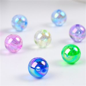الجملة 100 قطع جميلة جولة الاكريليك الخرز 8 ملليمتر ،، 4 ملليمتر مجوهرات صنع 573 Q2