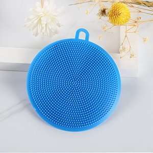 Silicone Dish Bowl Cleaning Brush Multifunction 5 colors Scouring Pad Pot Pan Wash Brushes Cleaner Kitchen Washing Tool EEB6446