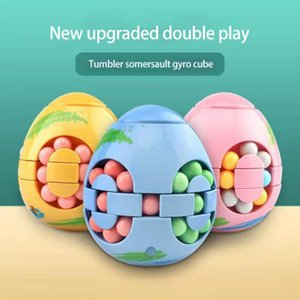 Magic Cube Fingertip Toys Relieve Stress Rotating Magice Bean Toyes Creative Decompression Funny Tumbler Toy Finger Desktop Gyro