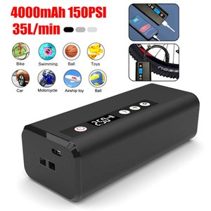 150psi 6000mAh Air Pump Electric Tyre Tires Inflator With LCD Display Rechargeable Auto Air Inflator Pump For Car Boat
