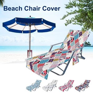 Pool & Accessories 210*73CM Beach Chair Cover Non-slip Sun Lounger With Pockets For Swimming