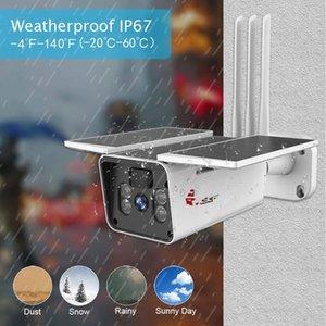 Outdoor Video Surveillance Solar Camera 4G SIM Card Battery Power Wireless WIFI IP Cameras 1080P Color Night PIR Radar Detection