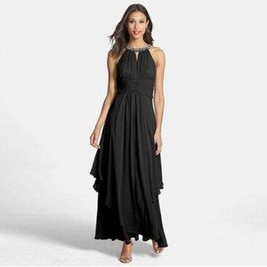 long skirt summer womens wear neck pin bead big swing slim off shoulder
