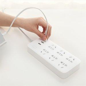 Power Strip 6-bit Socket Charging Plug 250V 2500W Power-Strip Sockets 3 USB 1.8Meter Standard Interface
