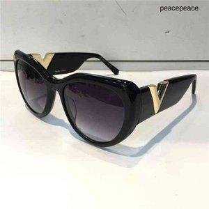 Z0902E Lunettes de soleil pour femmes populaires Rétro Vintage Vintage Femmes Designer Sunglasses Shiny Gold Summer Style Laser Top Placatif Venez avec étui