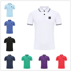 Men's Polos Top Quality Classic T-Shirts Short Sleeved Summer Cotton Embroidery Luxury T Shirt New Designer Polo Shirt High Street Tee