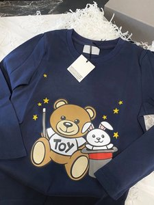 Children Kids baby clothing white t-shirts Graphic 100% Cotton Teddy Bear Boutique Outfits Teenage Girls Boys Long Sleeve Tops tees Fall Clothes