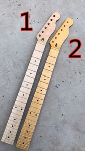 6 Strings 22 Frets Electric Guitar Neck with Black Dots Inlay,Yellow Maple Fingerboard,Can be customized