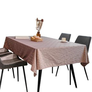Table Cloth Nordic Style Home Decor Desk Rectangle Spillproof Kitchen Dinning Jacquard Geometric Living Room Wrinkle Resistant