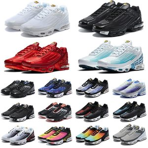 2021 TN Plus 3 zapatillas para correr Chaussures Triple White Black Iridcent Green OG EEUU NEON MENS para hombre Entrenadores para mujer Deportes 36-45