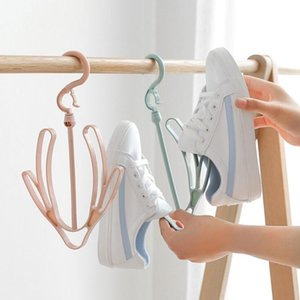 Balcony Shoe Rack Hook Bedroom Drying Shoes Artifact Sandals Multifunctional Home Outdoor Windproof Hanger Daily Necessities Hangers & Racks