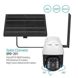 Card IPCamera 8W Solar Power 1080P HD Outdoor WiFi Camera Wireless Speed Dome CCTV Security PTZ BatteryCameras PIR P2P IP Cameras