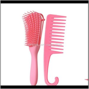 Sets Kits Care & Styling Tools Products Drop Delivery 2021 Dhgate Baptop Set Large Combing Hair Style Wide Teeth Hooked The Knife Comb 9R2M6