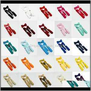 Belts 38 Colors Kids Suspenders Bow Tie Set For 110T Baby Braces Elastic Yback Boys Girls Strap Clip Accessories Belt C1625 Aa233 Wdnjd
