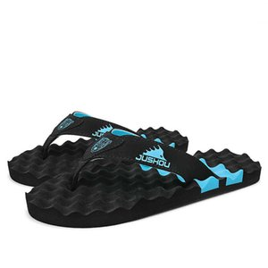 Summer Beach Flip Flops Casual Bath Slippers Breathable Flip Flop Men Thick-Soled Home Shoes Non-Slip Indoor And Outdoor Slides 210908
